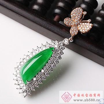 SYB高级珠宝-翡翠钻石吊坠