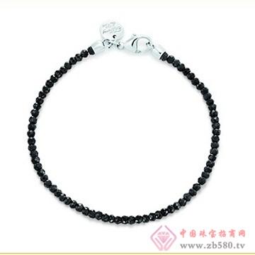 旭日珠宝黑色尖晶石手链