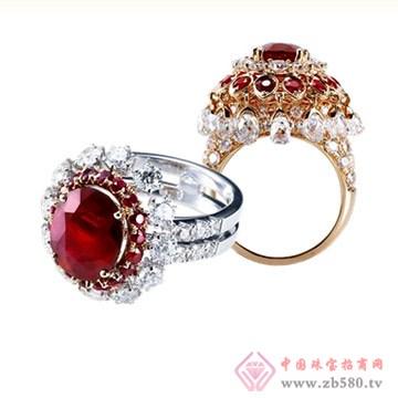 旭日珠宝红宝石戒指