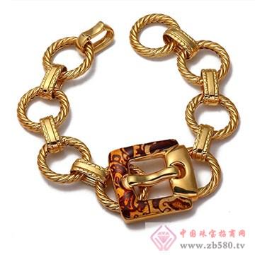 旭日珠宝烤瓷Kgold手链