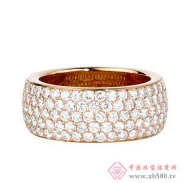 旭日珠宝玫瑰金、钻石戒指