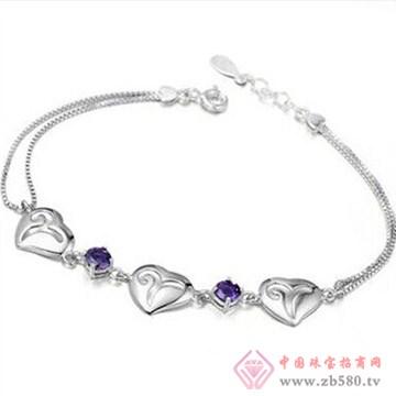 银皇珠宝S925银天然紫水晶手链