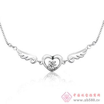 银皇珠宝S925银项链吊坠
