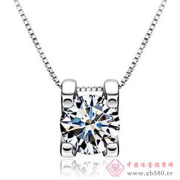 银皇珠宝S925银项链吊坠-3