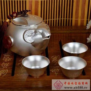 银皇珠宝S990纯银茶具