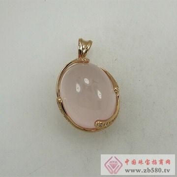 金荣福珠宝粉晶挂件