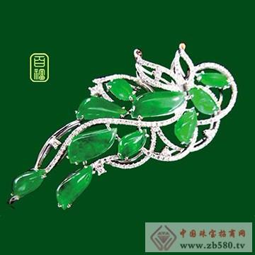 百福珠宝-翡翠胸针01
