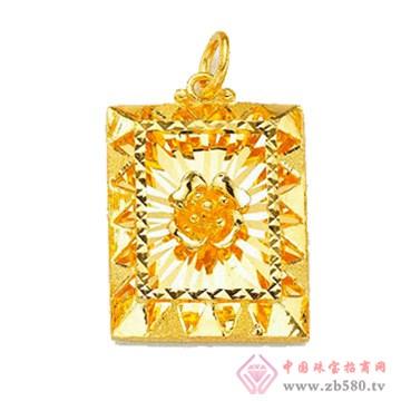 金雅艺-黄金吊坠01