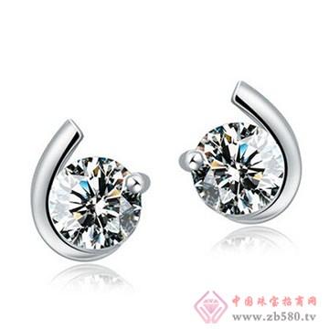 长宁钻石-钻石耳钉01