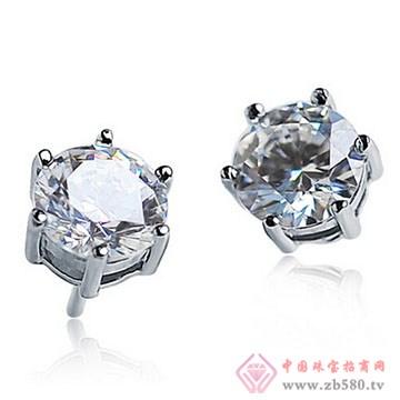 长宁钻石-钻石耳钉02