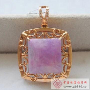 柏豪珠宝-紫红宝石吊坠02