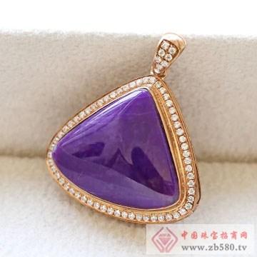 柏豪珠宝-紫红宝石吊坠03