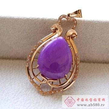 柏豪珠宝-紫红宝石吊坠04