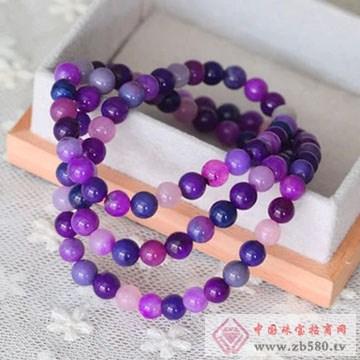 柏豪珠宝-紫红宝石手链01
