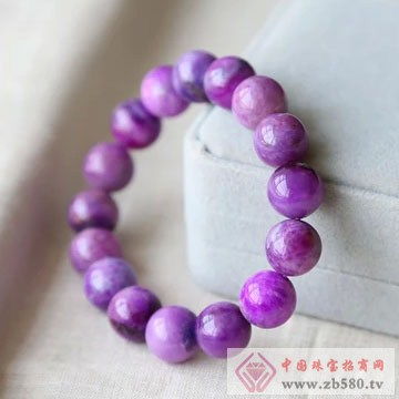 柏豪珠宝-紫红宝石手链02
