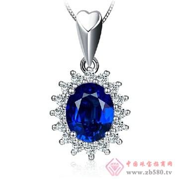 阿斯卡珠宝-蓝宝石吊坠