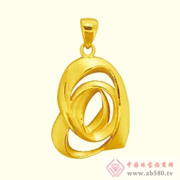 古名珠宝-黄金吊坠