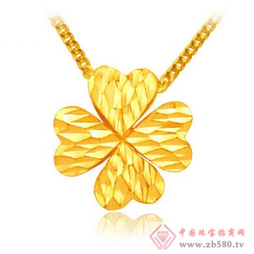 四千金-黄金吊坠02