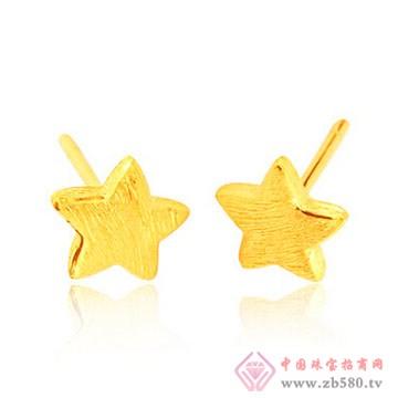四千金-黄金耳钉03