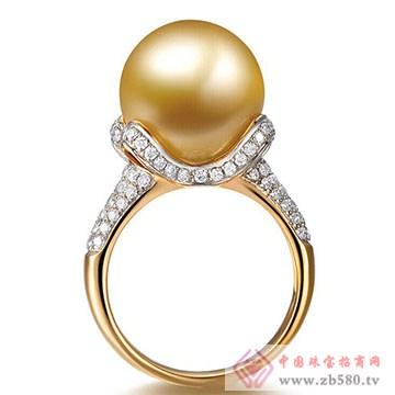 兄弟美-18K金镶嵌珍珠戒指