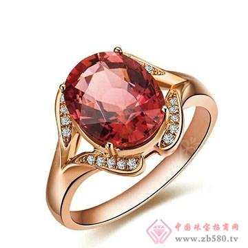 兄弟美-18K金镶嵌宝石戒指01