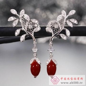 芝琦珠宝-珊瑚耳坠01