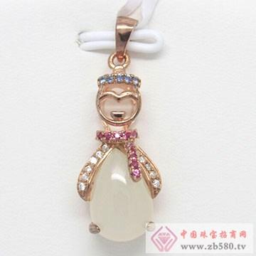 玖钻珠宝-银镶翡翠吊坠01