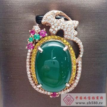 玖钻珠宝-银镶翡翠吊坠04