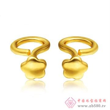 周六旺珠宝-黄金耳饰03