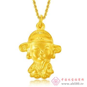 禧六福珠宝-黄金吊坠01