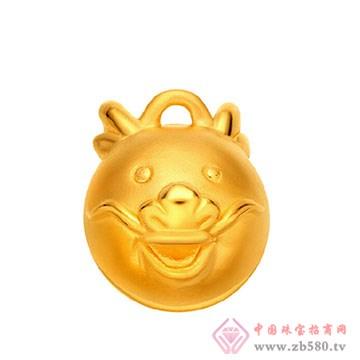 禧六福珠宝-黄金吊坠05
