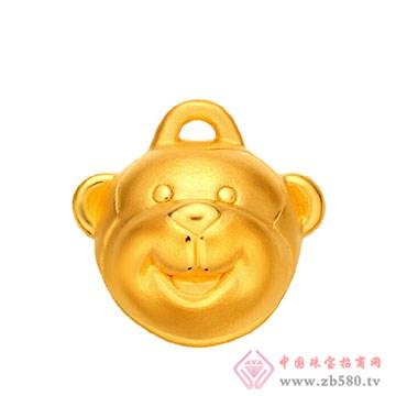 禧六福珠宝-黄金吊坠06