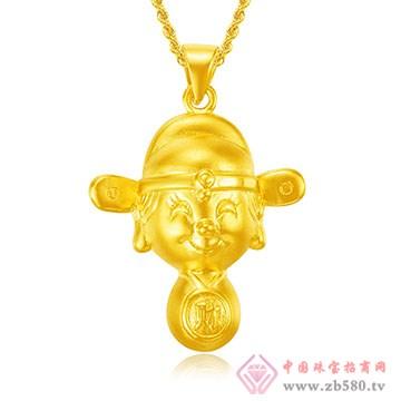 禧六福珠宝-黄金吊坠02