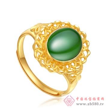 晶雅福-金镶玉戒指