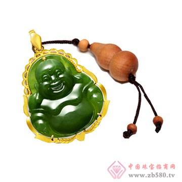晶雅福-金镶玉挂件02