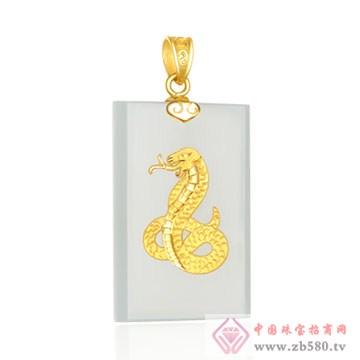 晶雅福-金镶玉挂件09