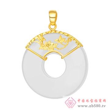 晶雅福-金镶玉挂件12