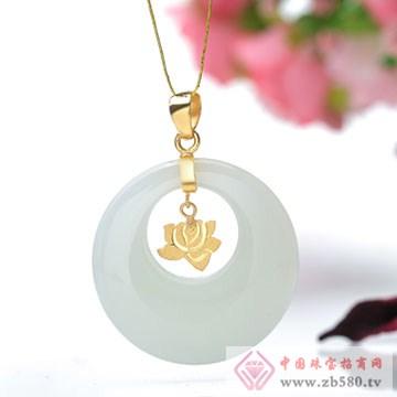 晶雅福-金镶玉挂件13
