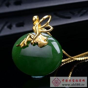 晶雅福-金镶玉挂件15