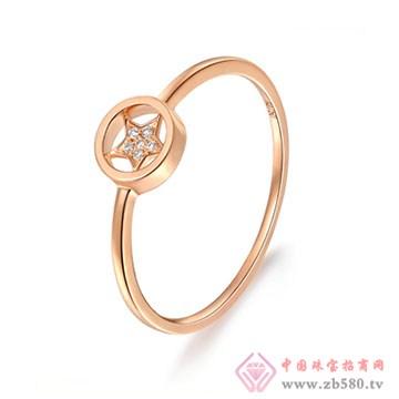大长金珠宝-星星知我心系列戒指