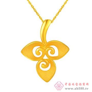 周佳福珠宝-黄金吊坠2