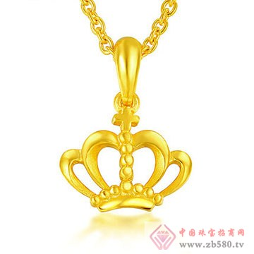 周佳福珠宝-黄金吊坠8