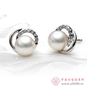 龙之珍珠-南洋白珠珍珠耳钉