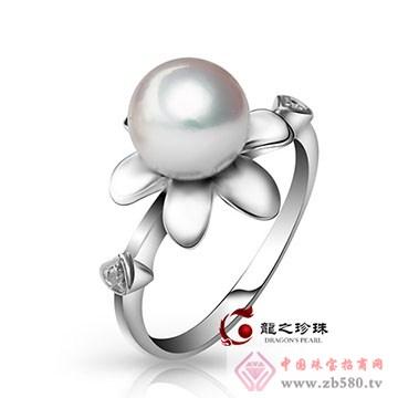 龙之珍珠-南洋白珠珍珠戒指01