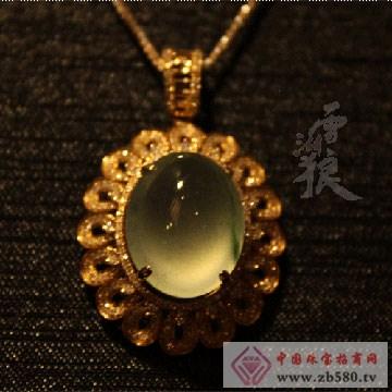 雪湖狼树化玉珠宝豪华镶玻璃种飘花