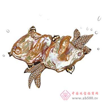 天地润-珍珠胸针03
