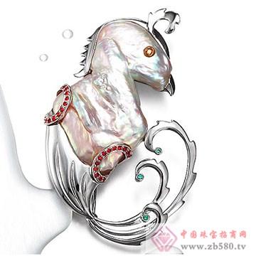 天地润-珍珠胸针04