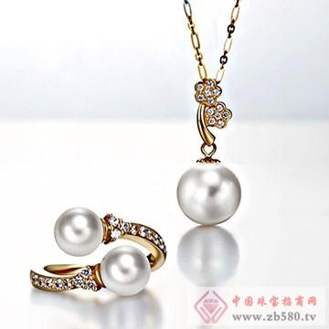 天地润-珍珠戒指项链