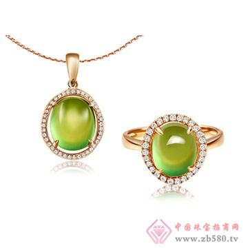 彩尚珠��-葡萄石套�b