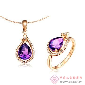 彩尚珠��-紫晶套�b